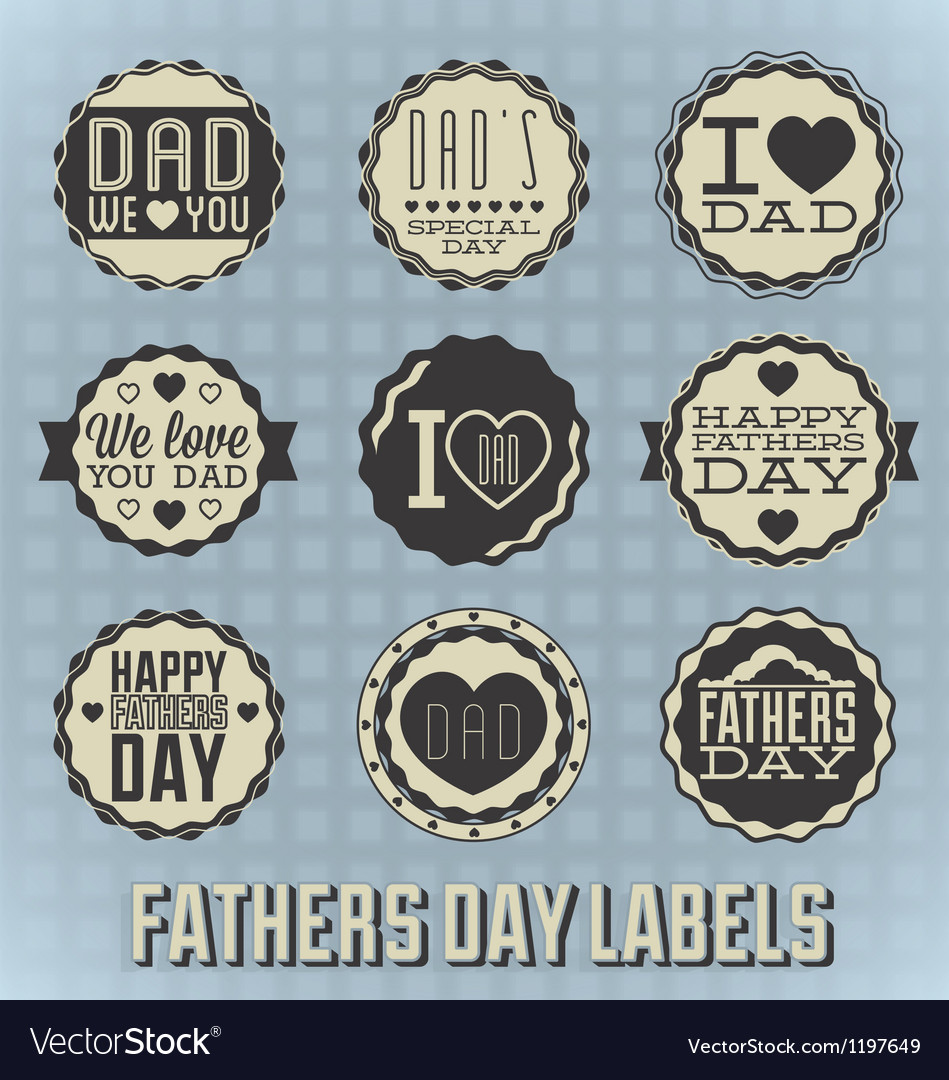 Happy fathers day labels vector | Price: 3 Credit (USD $3)