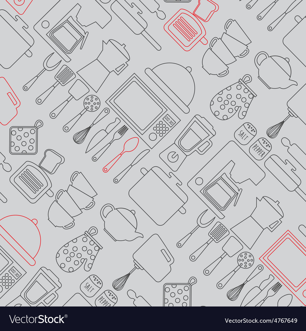 Kitchen elements vector | Price: 1 Credit (USD $1)