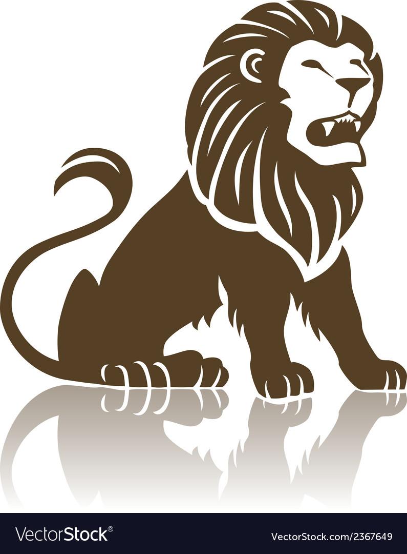 Lion emblem vector   Price: 1 Credit (USD $1)