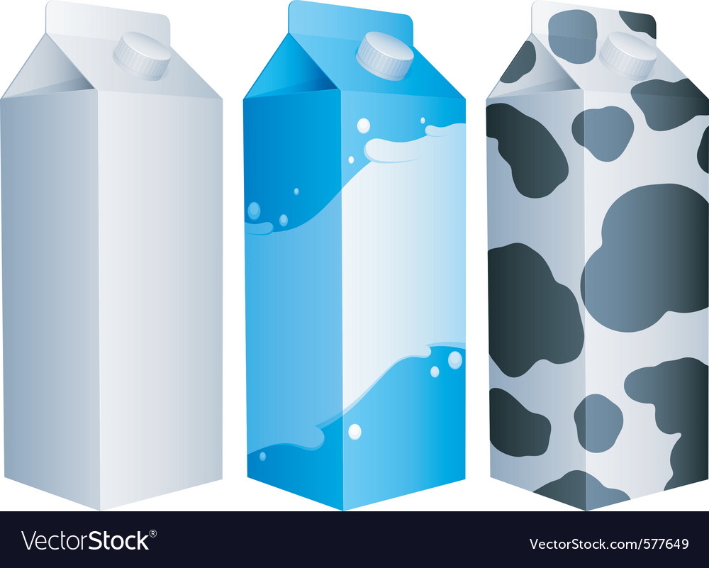 Milk packs vector | Price: 1 Credit (USD $1)