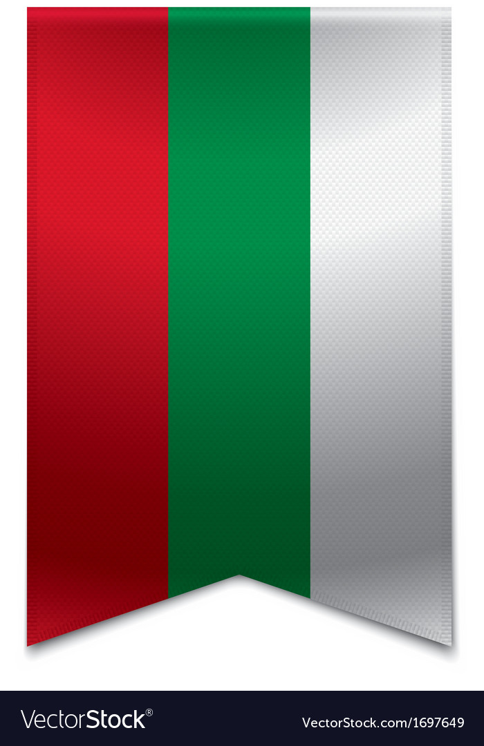 Ribbon banner - bulgarian flag vector | Price: 1 Credit (USD $1)