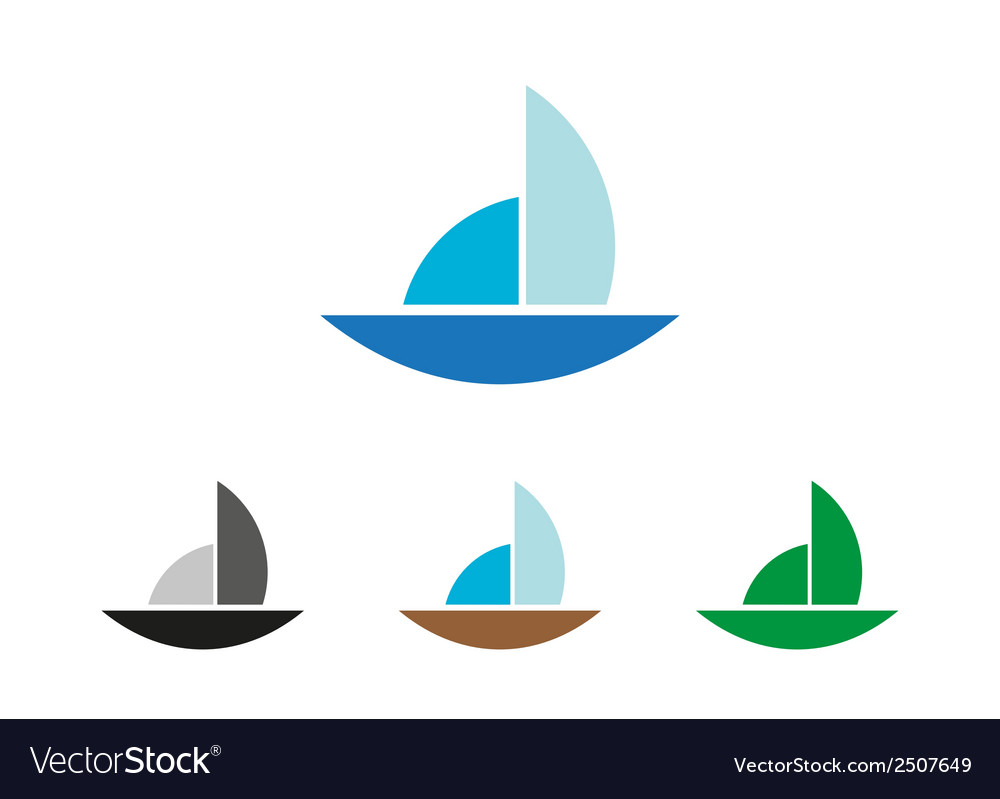 Sailing object symbol vector | Price: 1 Credit (USD $1)