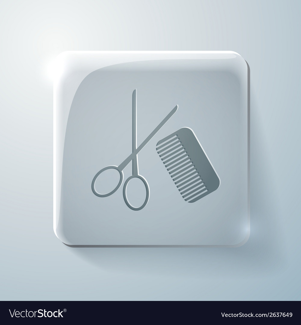 Scissors and comb barbershop vector | Price: 1 Credit (USD $1)