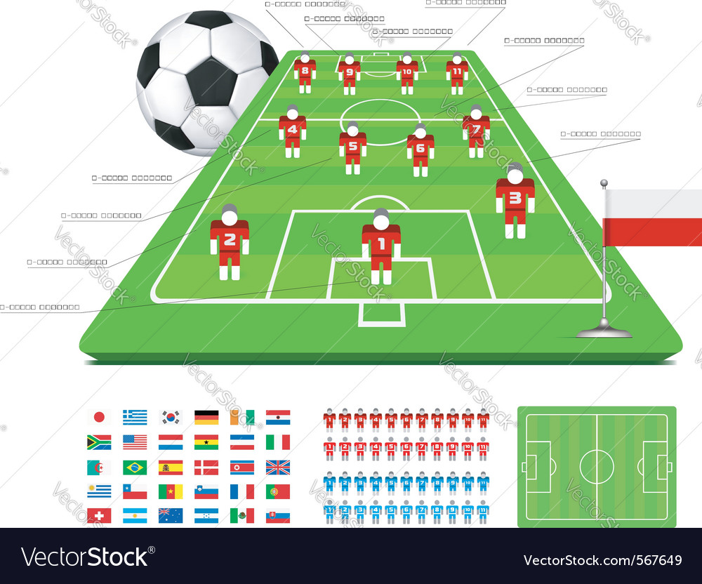 Soccer tactical kit vector | Price: 1 Credit (USD $1)