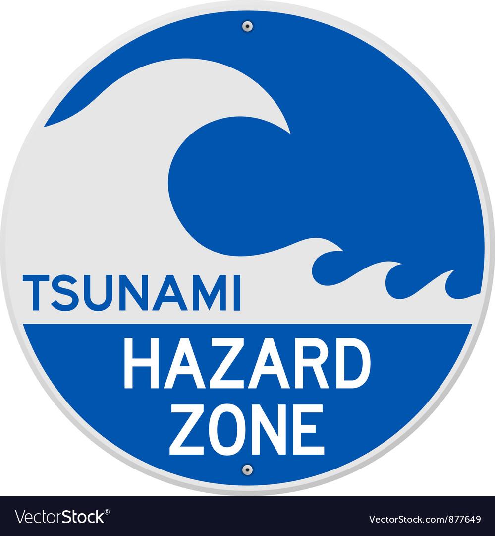 Tsunami hazard zone vector | Price: 1 Credit (USD $1)