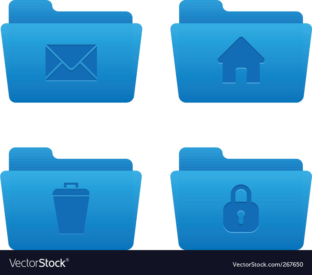 04 blue folders internet icons vector | Price: 1 Credit (USD $1)