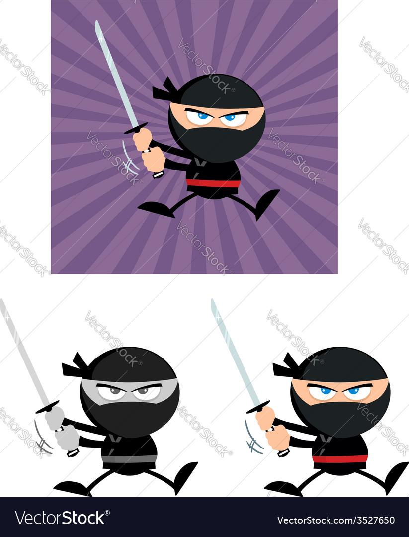 Cartoon ninja vector | Price: 1 Credit (USD $1)