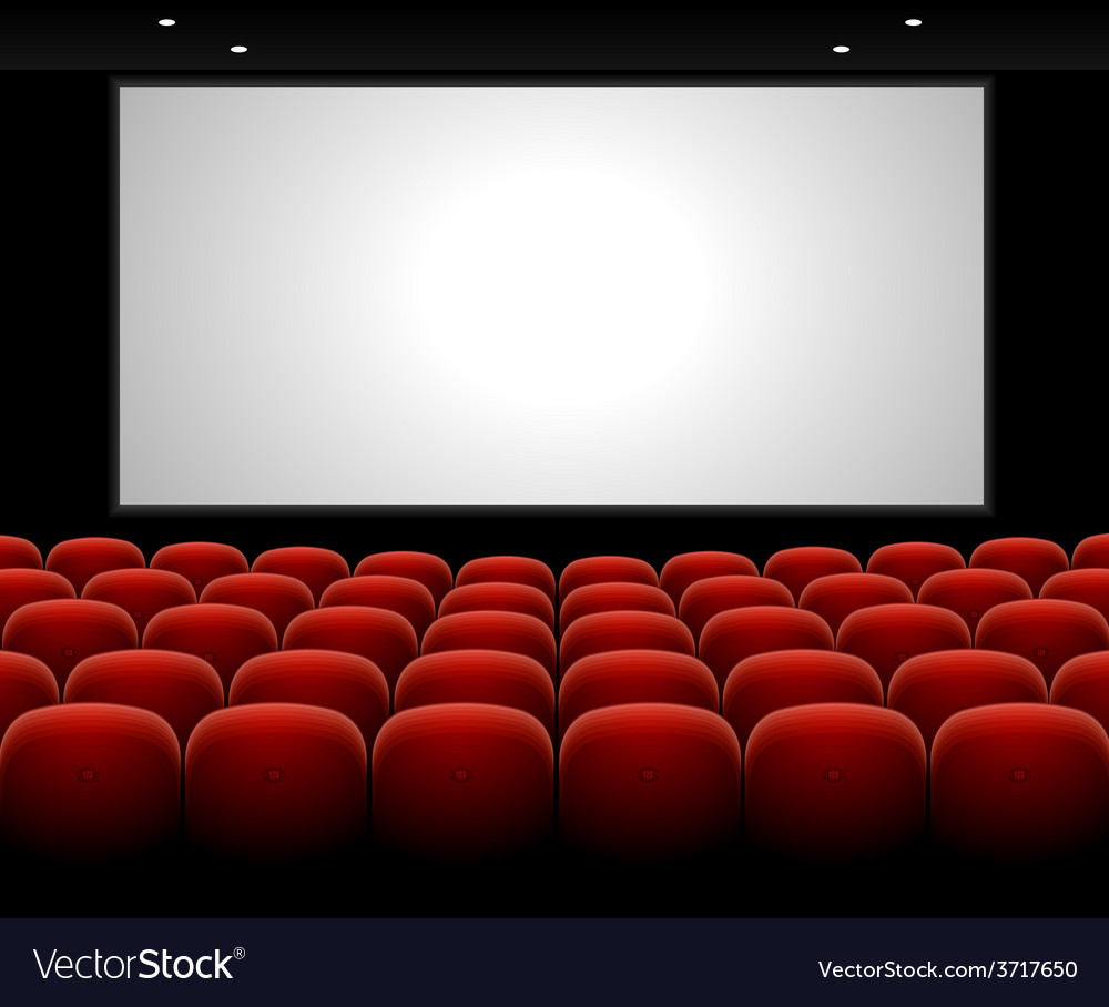 Cinema auditorium with blank screen vector | Price: 1 Credit (USD $1)