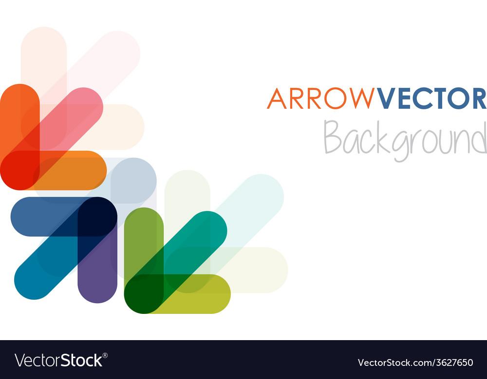 Colourful arrows vector | Price: 1 Credit (USD $1)