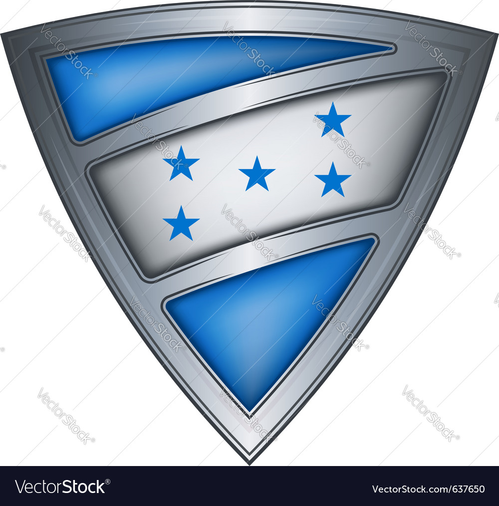 Steel shield with flag honduras vector | Price: 1 Credit (USD $1)