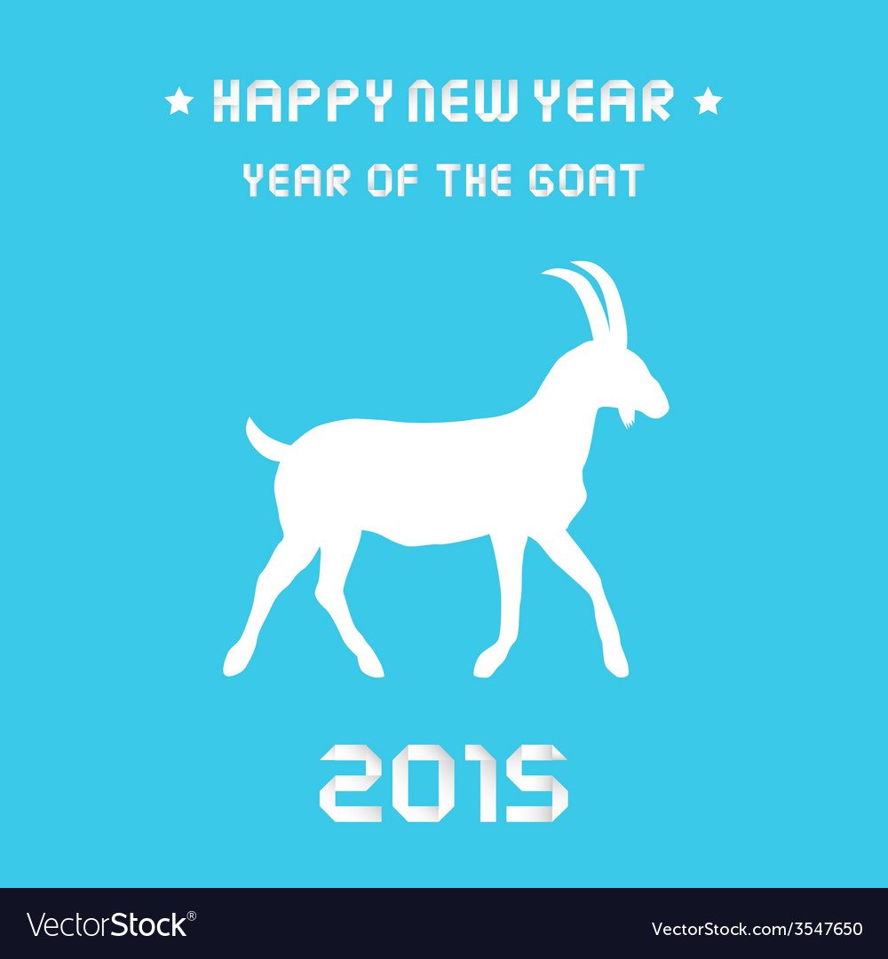 Year of the goat1 vector | Price: 1 Credit (USD $1)