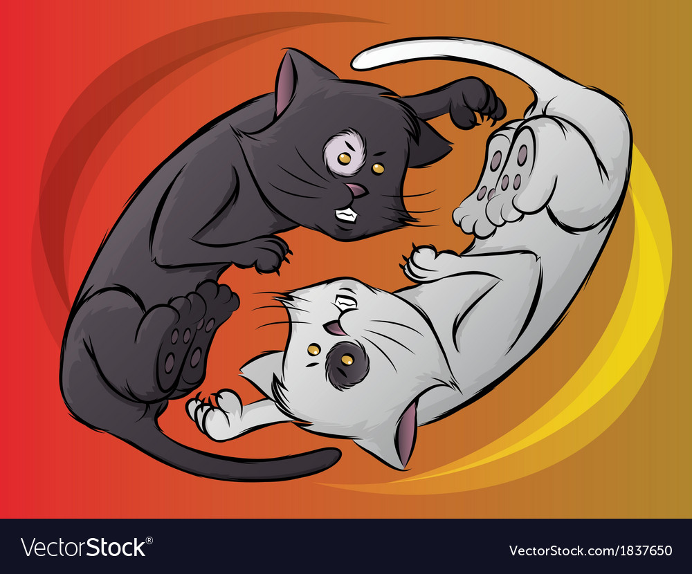 Yin yang kitty vector | Price: 1 Credit (USD $1)