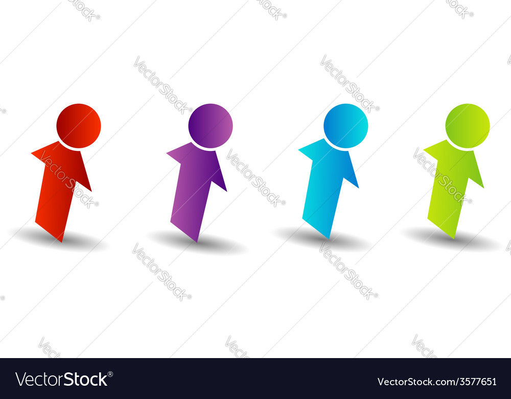 Abstract people- colorful people isolated logos vector | Price: 1 Credit (USD $1)