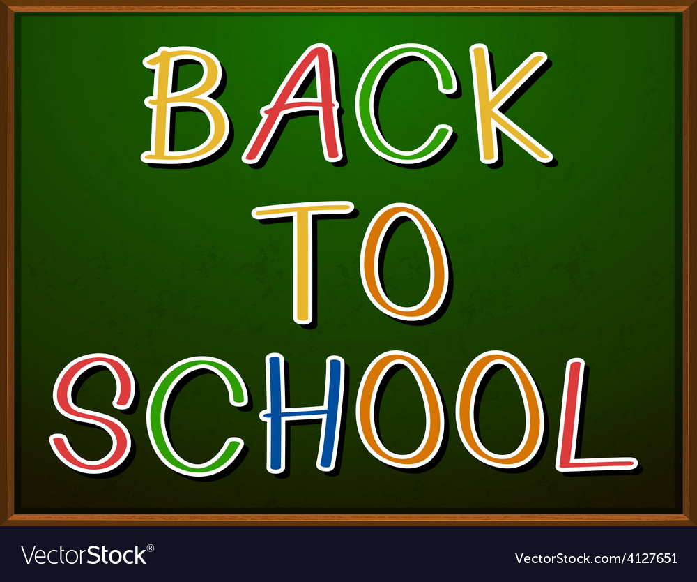 Back to school signboard vector | Price: 1 Credit (USD $1)