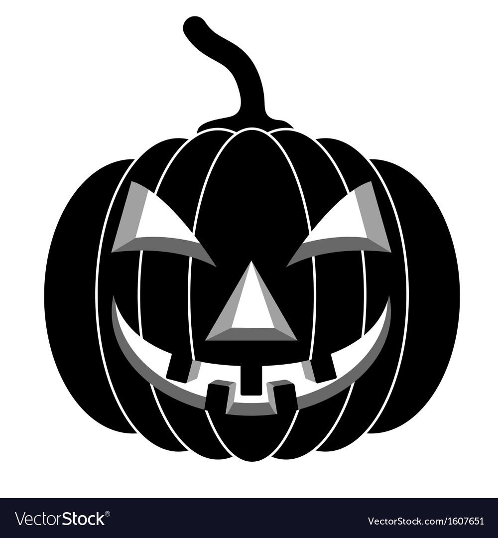 Black pumpkins for halloween vector | Price: 1 Credit (USD $1)