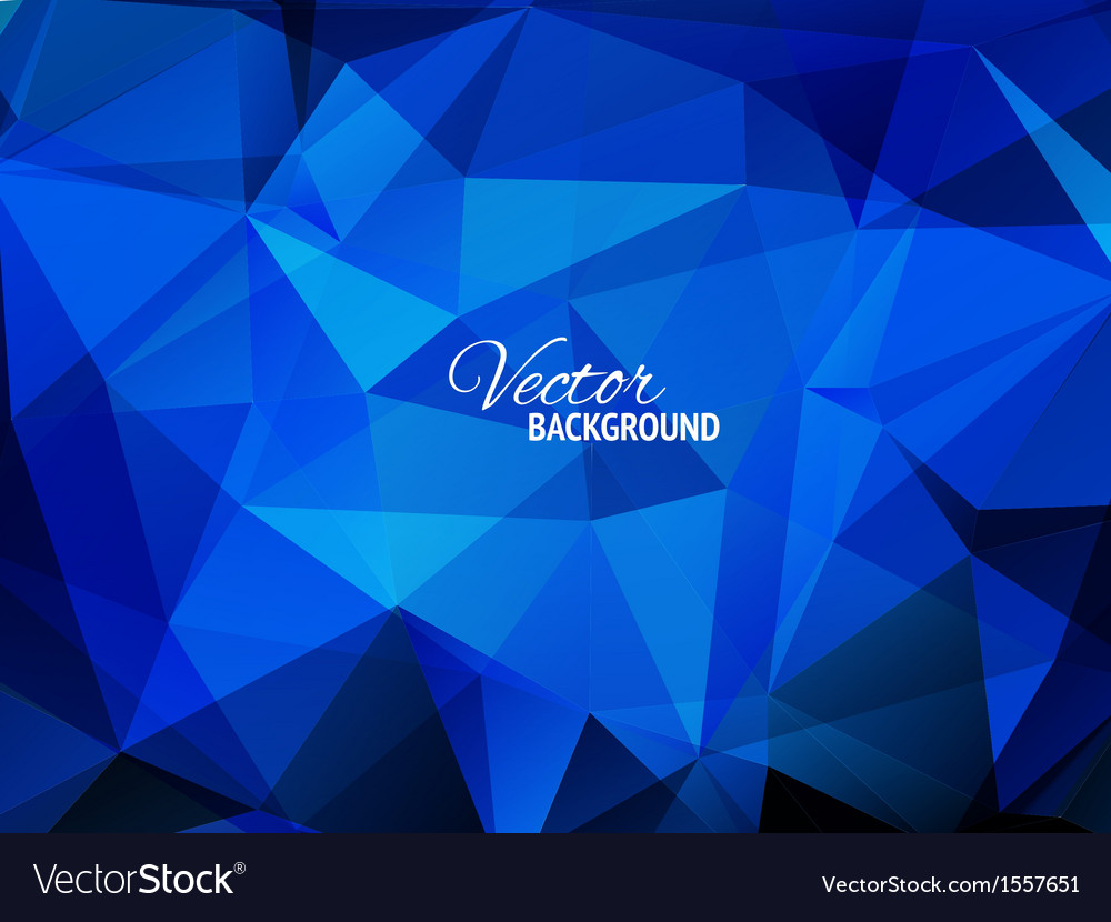 Blue business triangular background vector | Price: 1 Credit (USD $1)