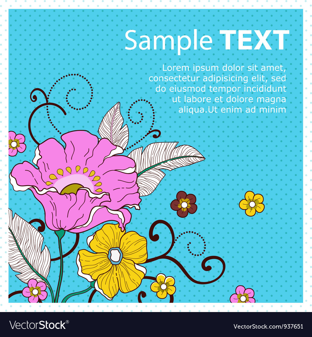 Card with flowers peas vector | Price: 1 Credit (USD $1)
