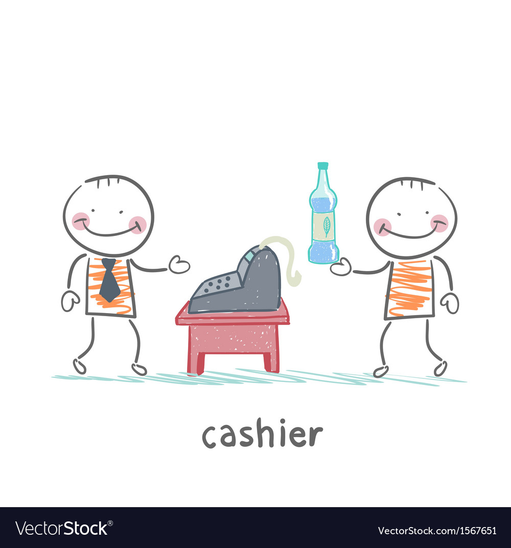 Cashier services client vector | Price: 1 Credit (USD $1)