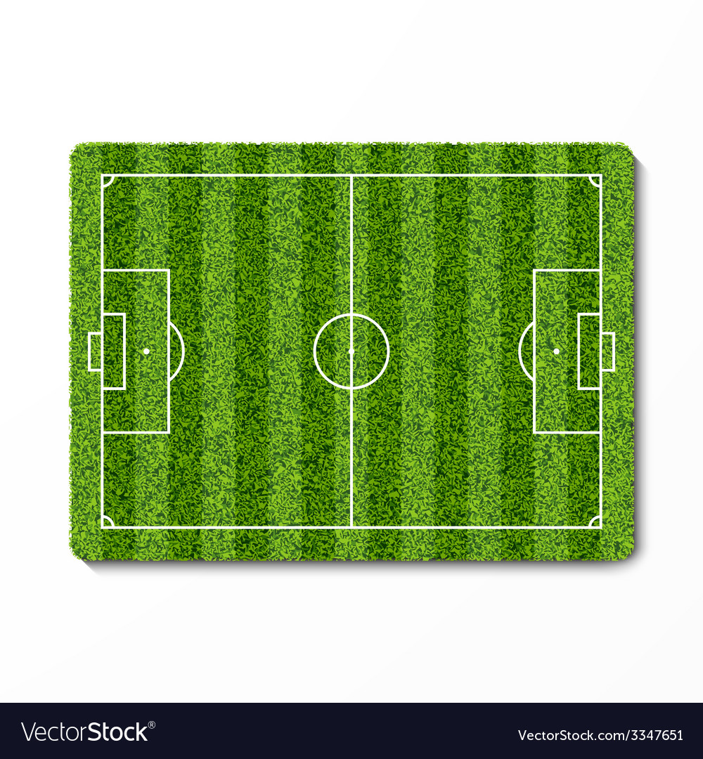 Green grass soccer field vector | Price: 1 Credit (USD $1)