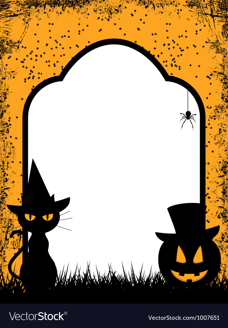 Halloween border background vector | Price: 1 Credit (USD $1)