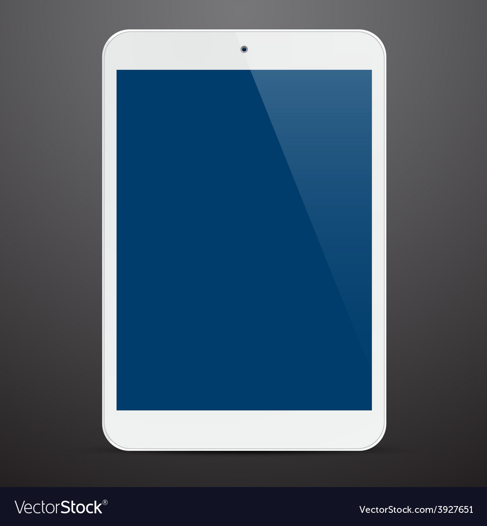 Realistic white tablet pc vector | Price: 1 Credit (USD $1)