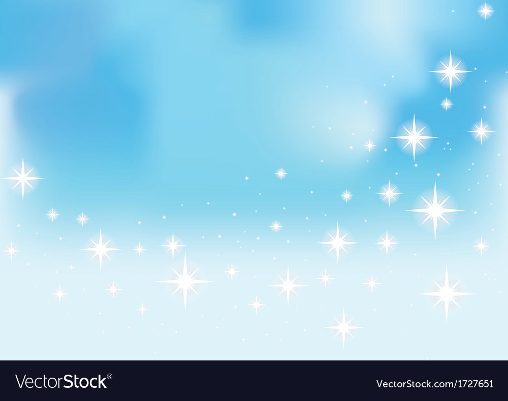 Shining stars on a blue background vector | Price: 1 Credit (USD $1)