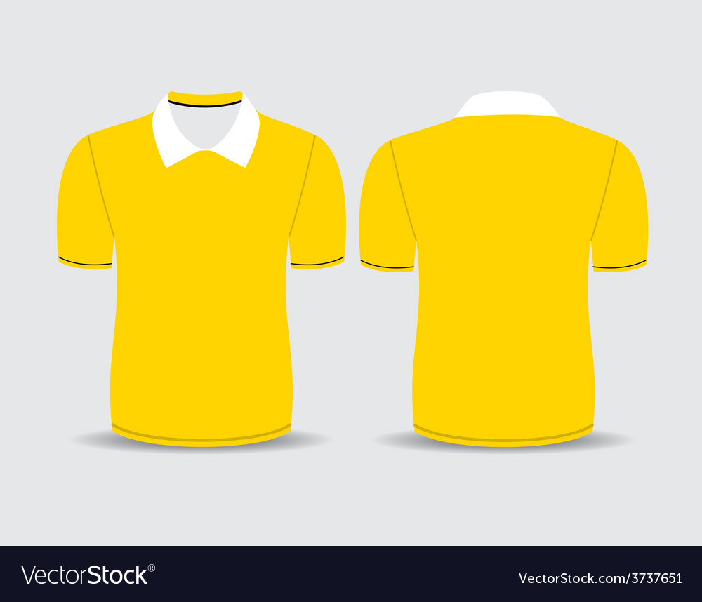 Yellow polo t shirt vector | Price: 1 Credit (USD $1)