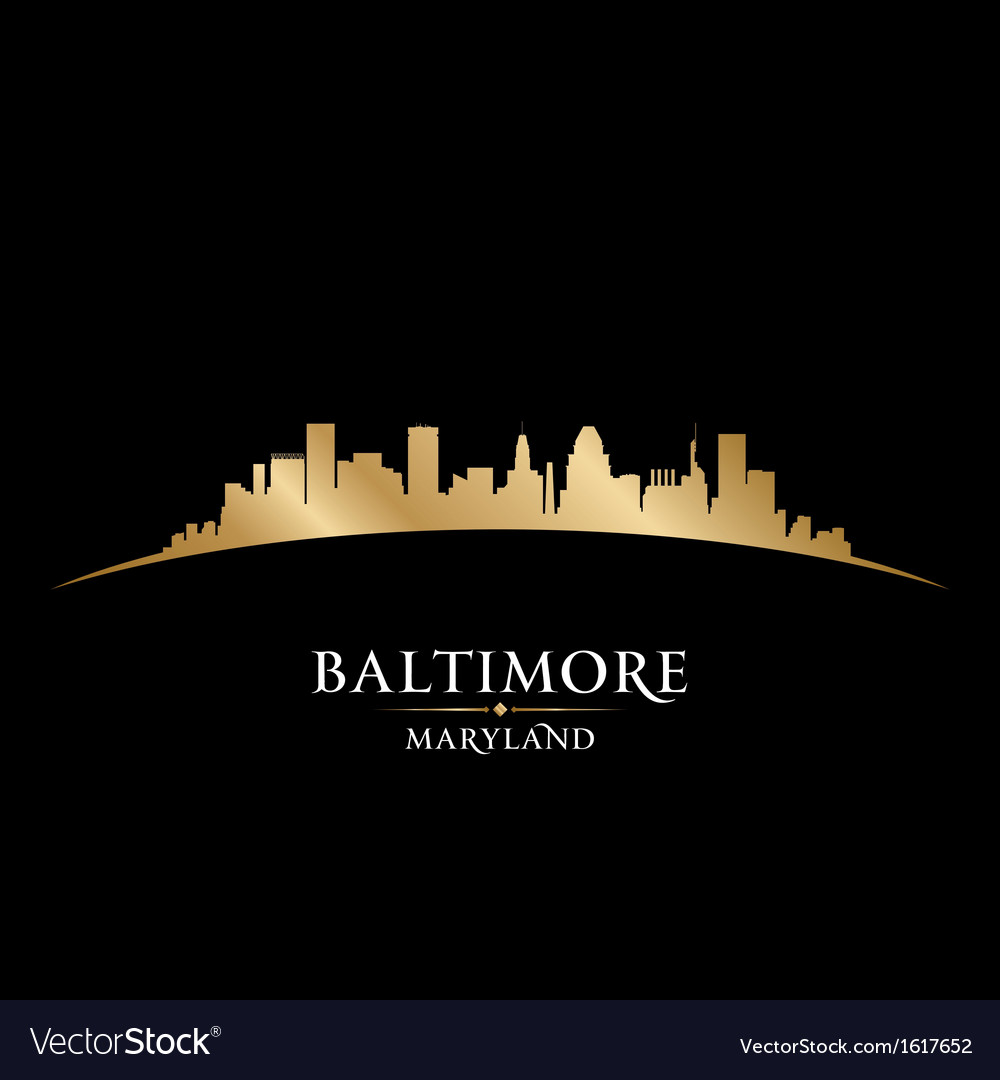 Baltimore maryland city skyline silhouette vector | Price: 1 Credit (USD $1)