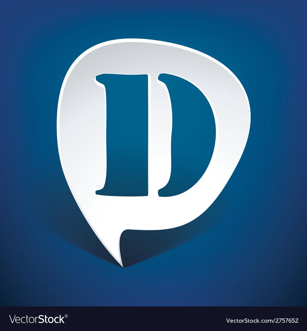 Bubble speech letter d vector | Price: 1 Credit (USD $1)