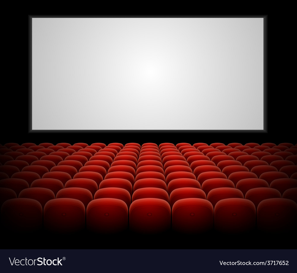 Cinema auditorium with blank screen vector | Price: 1 Credit (USD $1)