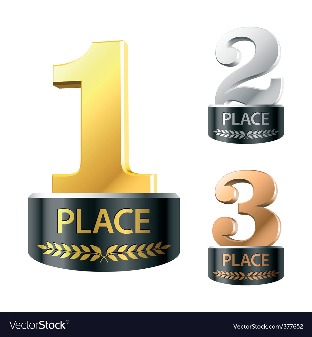 First second and third places vector | Price: 1 Credit (USD $1)