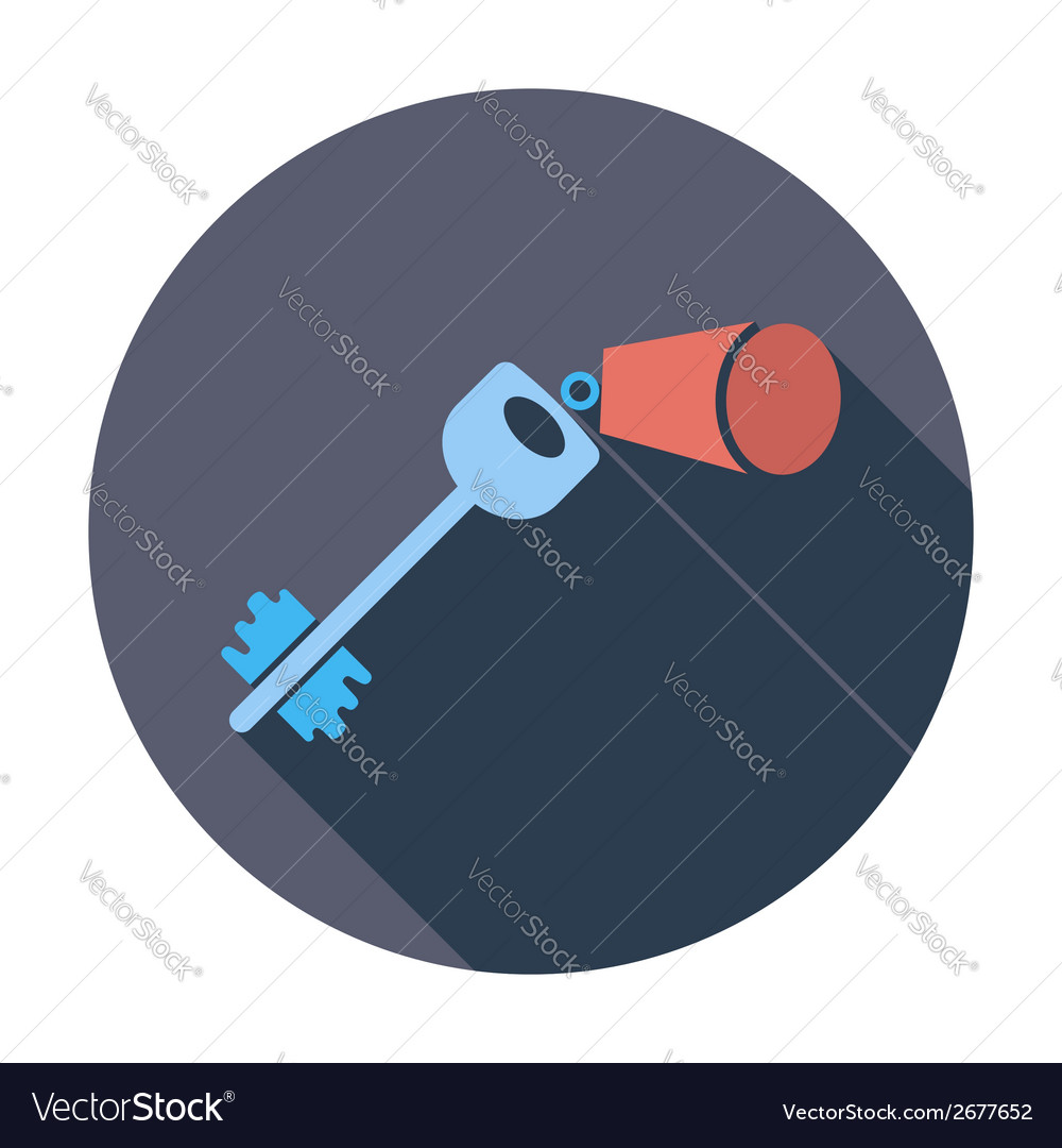 Key flat icon vector | Price: 1 Credit (USD $1)