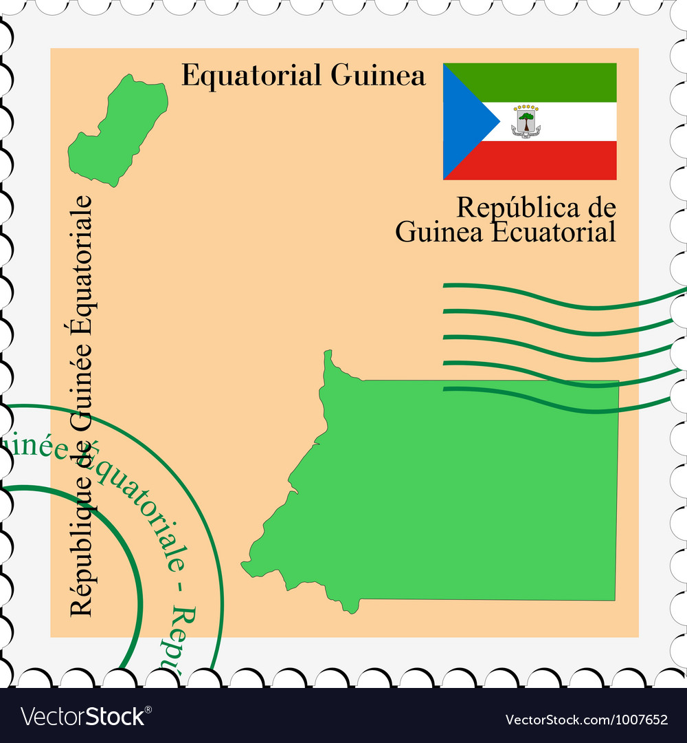 Mail to-from equatorial guinea vector | Price: 1 Credit (USD $1)