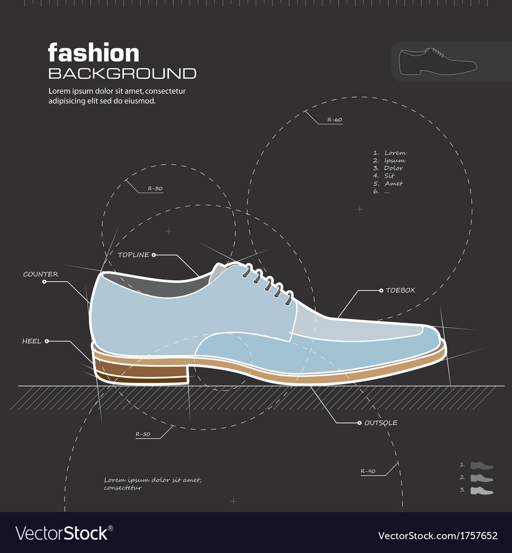 Man shoe design vector | Price: 1 Credit (USD $1)