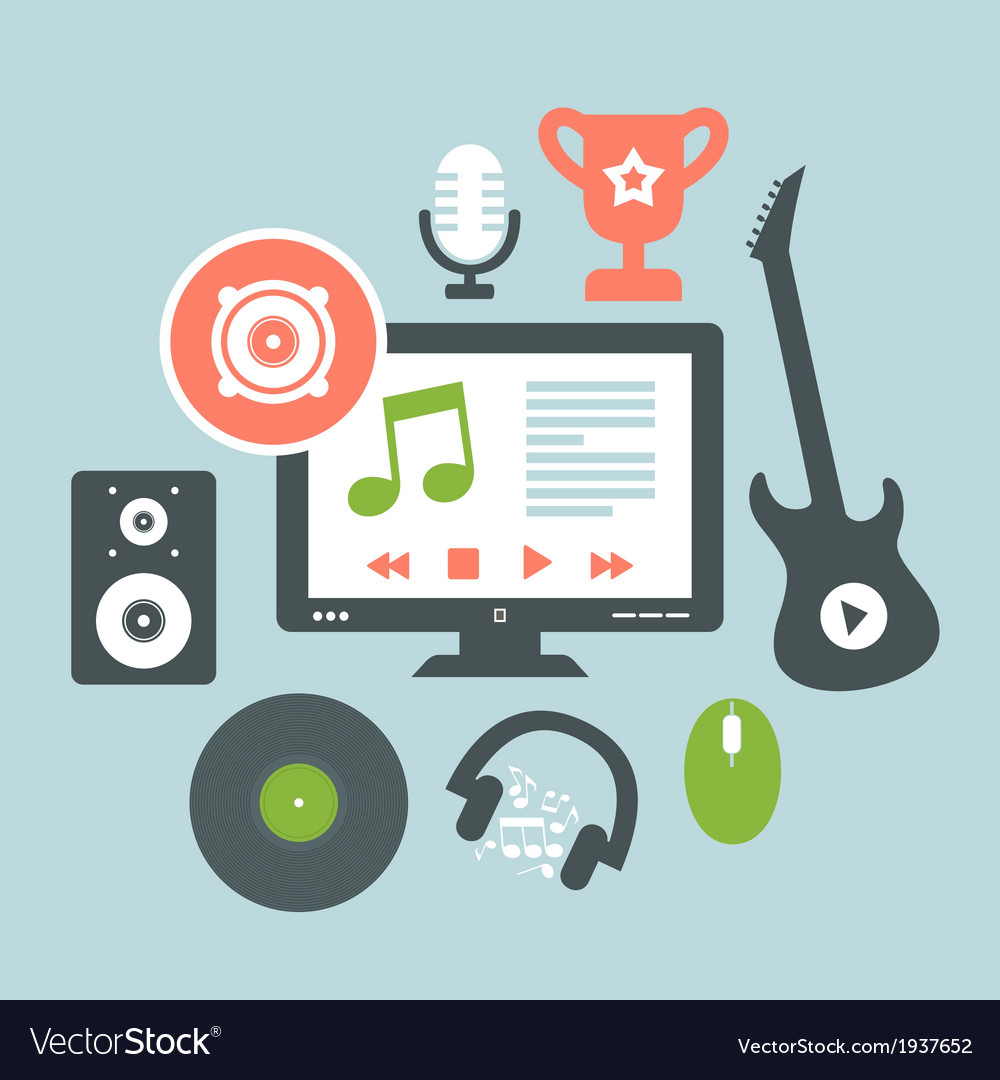 Music2 vector | Price: 1 Credit (USD $1)