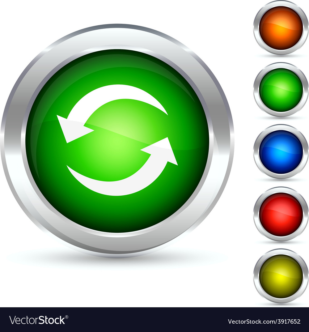 Recycling button vector   Price: 1 Credit (USD $1)