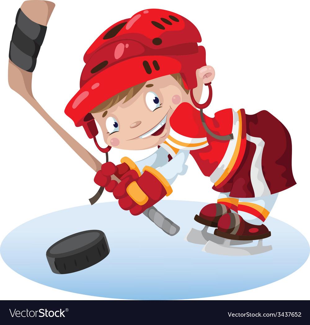 Smile boy hockey vector | Price: 3 Credit (USD $3)