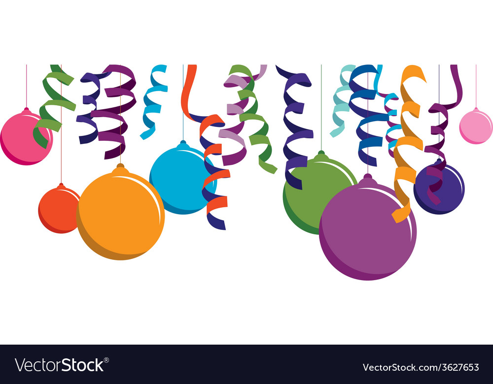 Colourful balloon banner vector | Price: 1 Credit (USD $1)