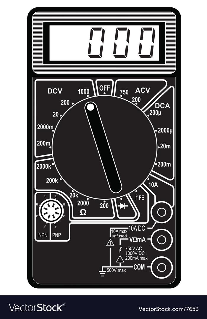 Digital multimeter vector | Price: 1 Credit (USD $1)