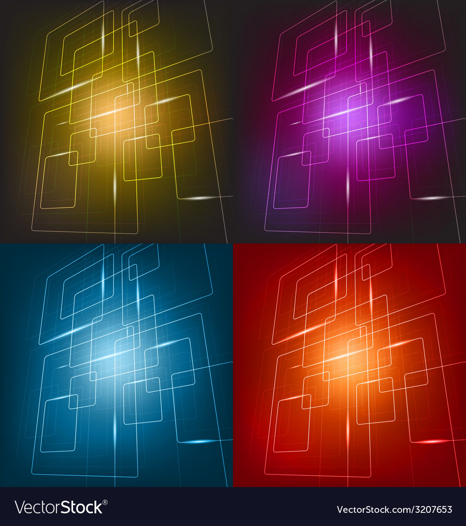 Four colorful background vector | Price: 1 Credit (USD $1)