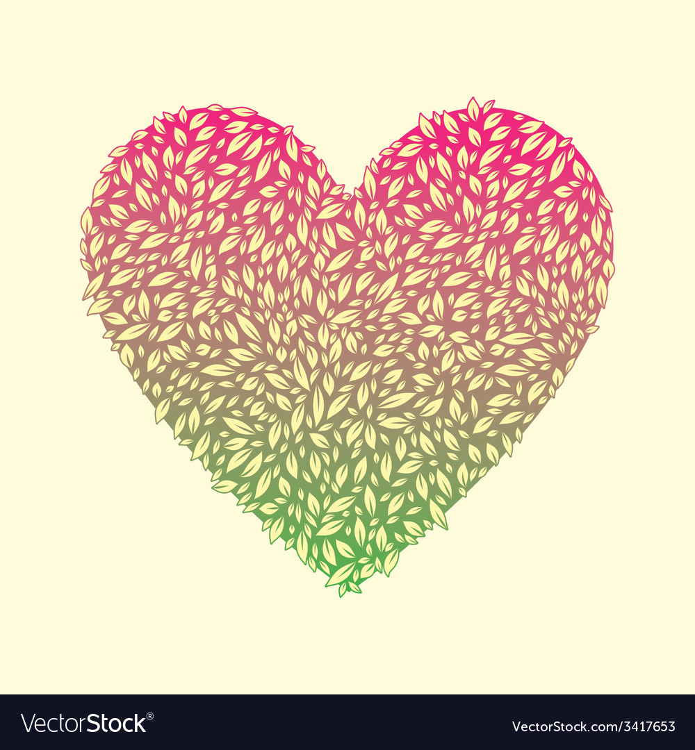 Leaf love vector | Price: 1 Credit (USD $1)