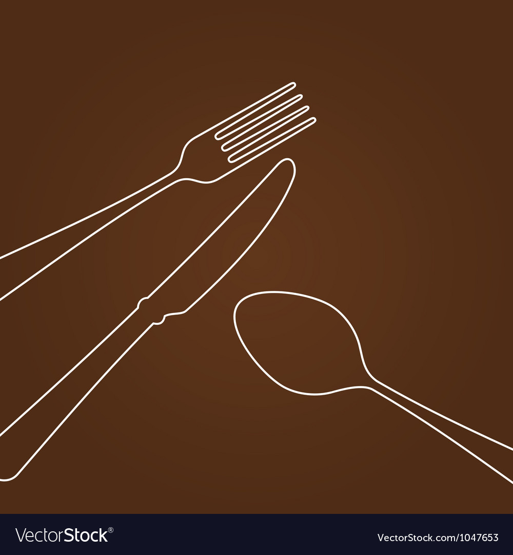 Lines forming cutlery vector | Price: 1 Credit (USD $1)