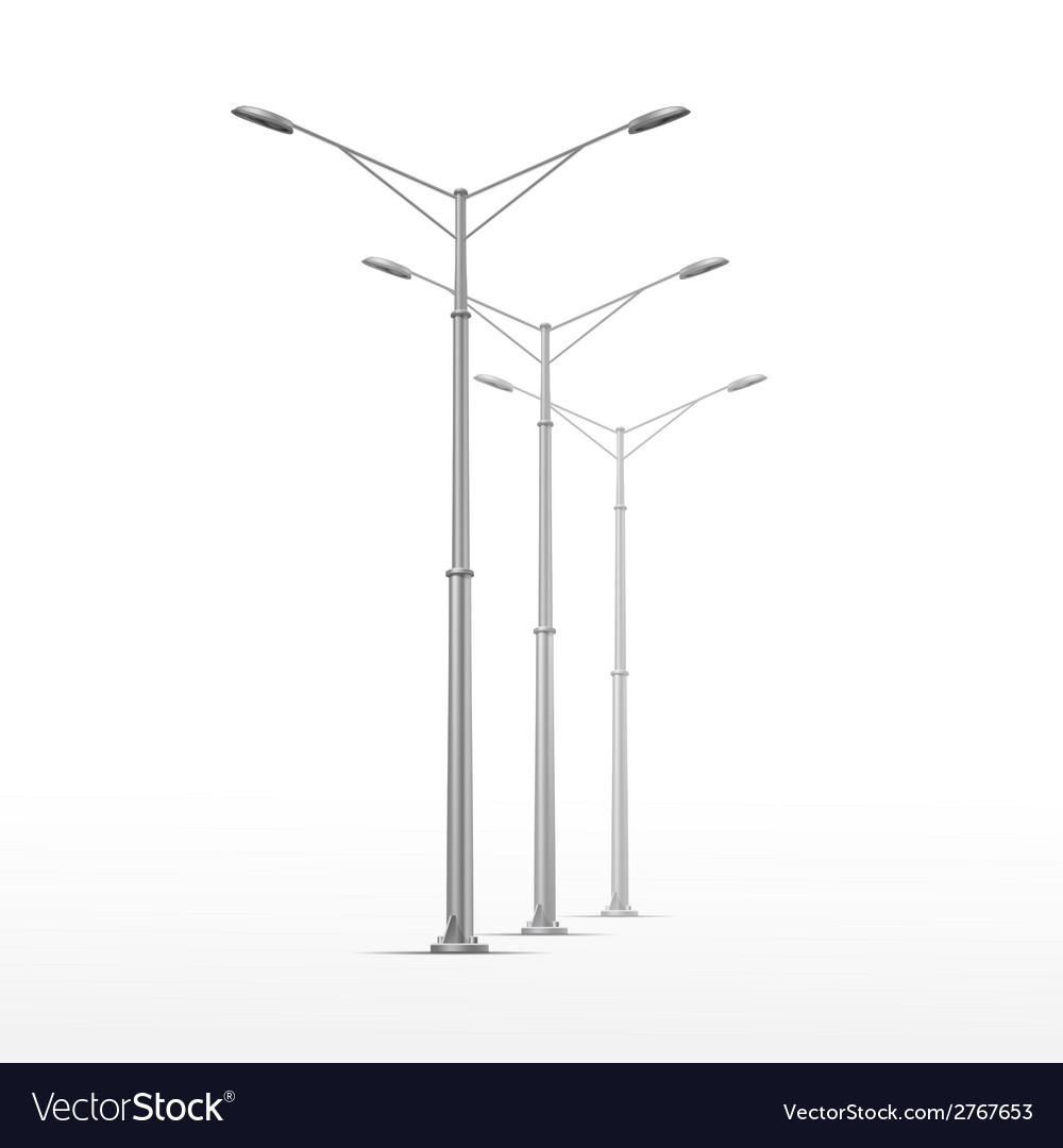 Street lamp isolated on white background vector | Price: 1 Credit (USD $1)