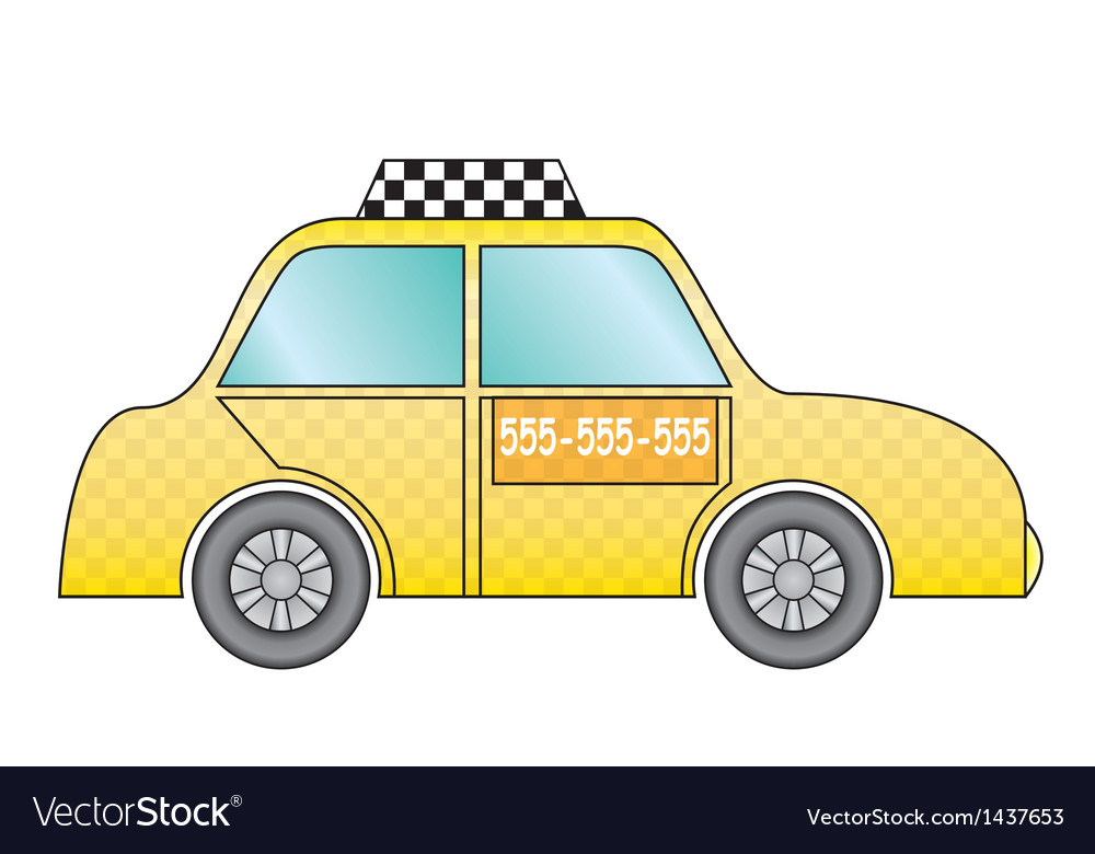 Yellow taxi cab vector | Price: 1 Credit (USD $1)