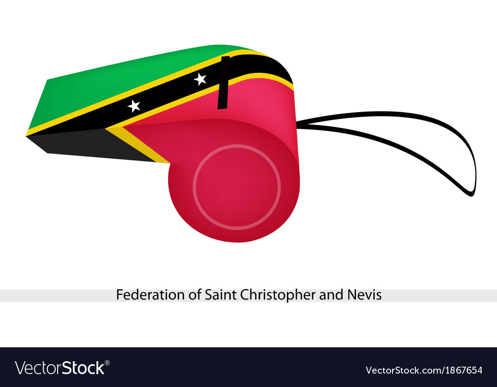 A whistle of federation of saint kitts and nevis vector | Price: 1 Credit (USD $1)