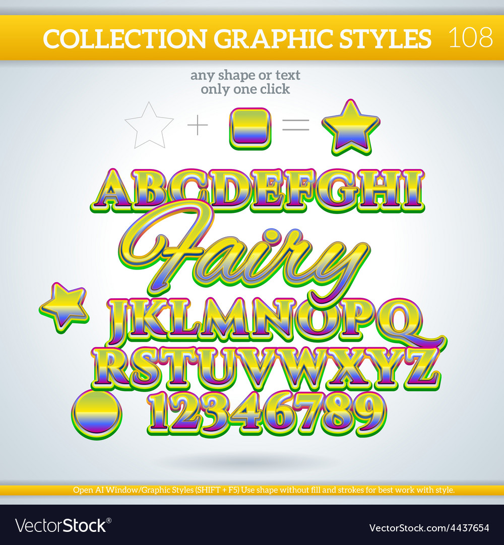 Graphic styles can be use for decor text title vector | Price: 1 Credit (USD $1)