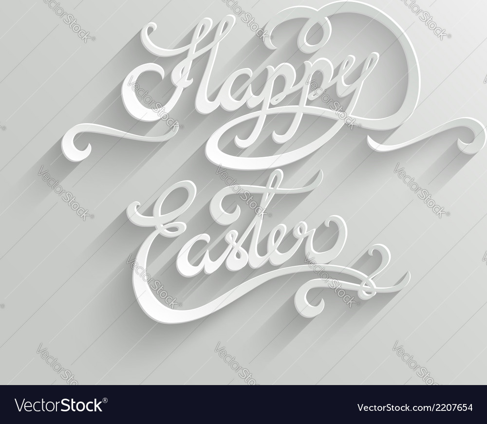 Happy easter lettering greeting card vector | Price: 1 Credit (USD $1)
