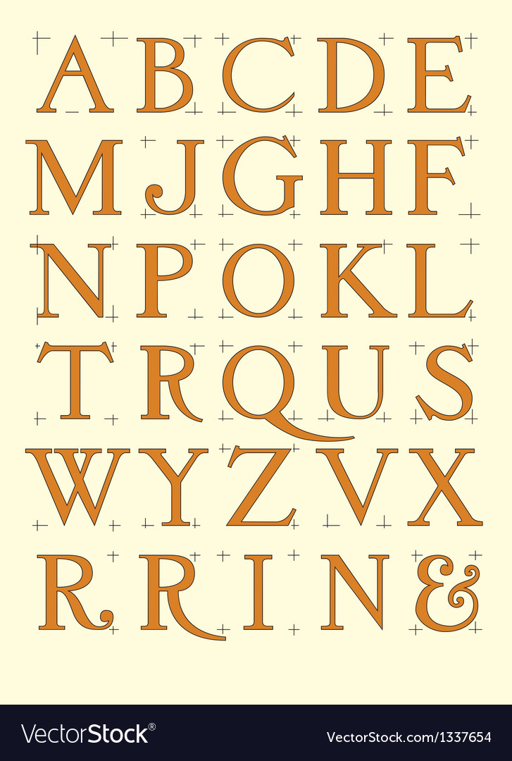 Modern roman alphabet vector | Price: 1 Credit (USD $1)