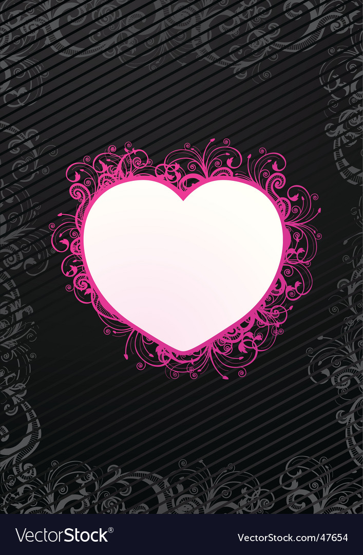 Illustration of floral heart vector | Price: 1 Credit (USD $1)