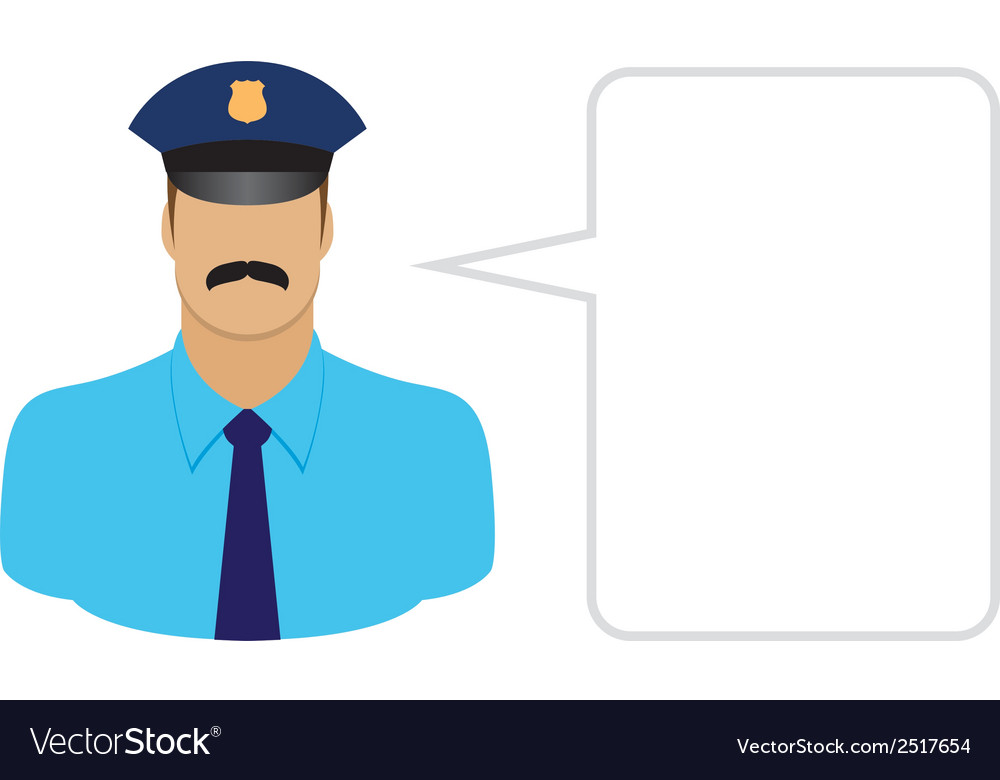 Police avatars and user icons vector | Price: 1 Credit (USD $1)